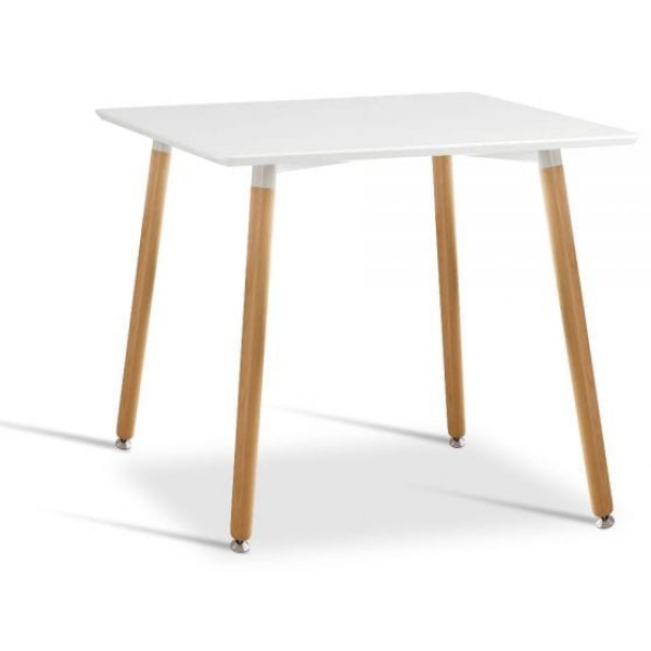 Beech Wood Dining Table Square White