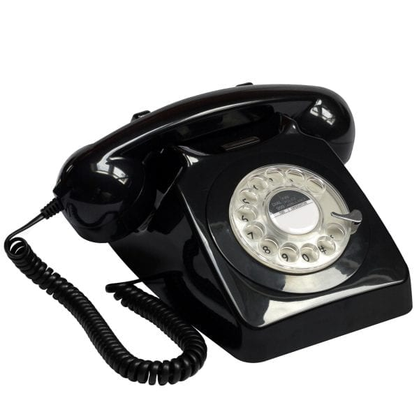 GPO 746 Traditional Rotary Dialing Telephone Black