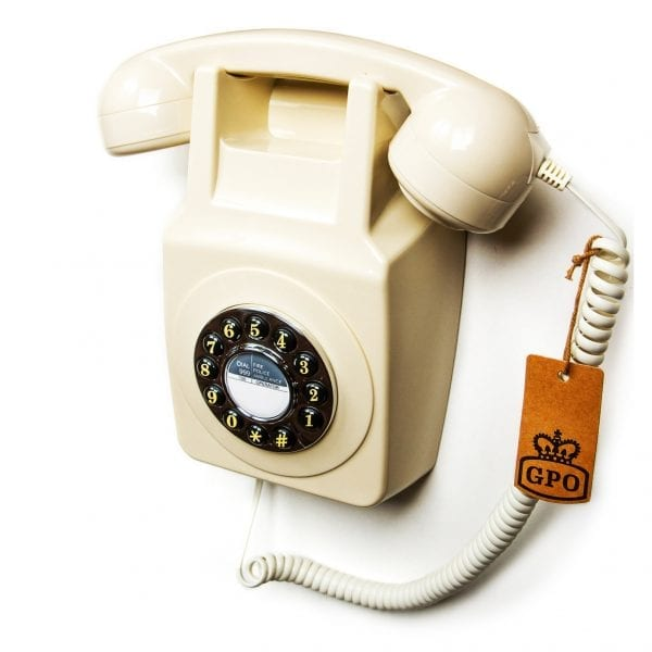 Retro GPO 746 Wall Phone Ivory