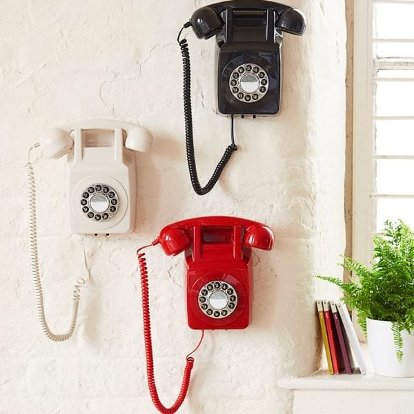 GPO 746 Wall Telephone Red