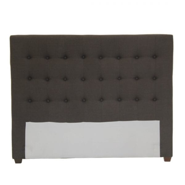 Satara Danish Bedhead Queen Charcoal