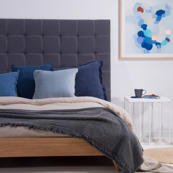 Satara Annecy Bedhead Queen Midnight Grey