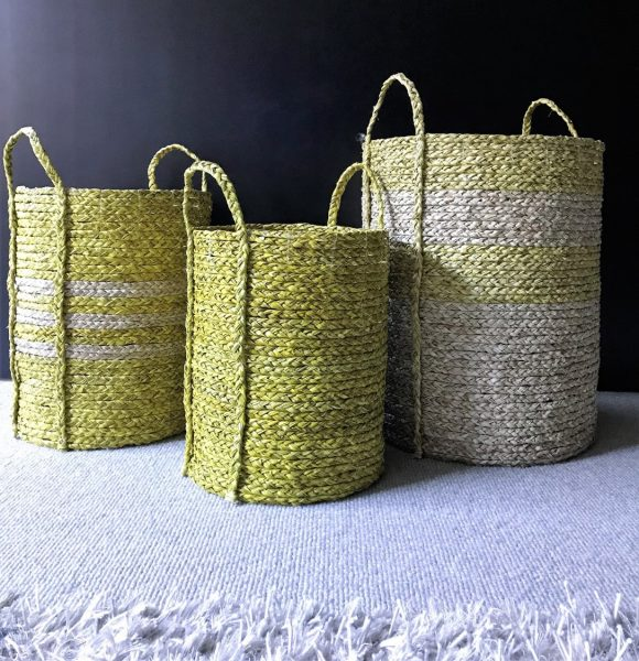Satara Merricks Baskets Yellow