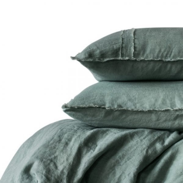 Satara Linen Duvet Set Sea Mist Queen