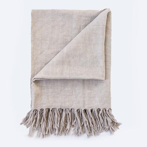 Satara Soft Luca Throw Silver Grey