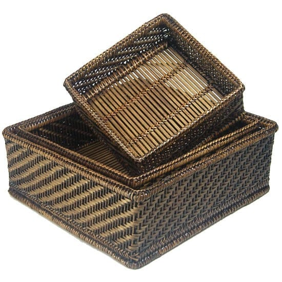 Satara Set of 3 Hlaing Square Baskets