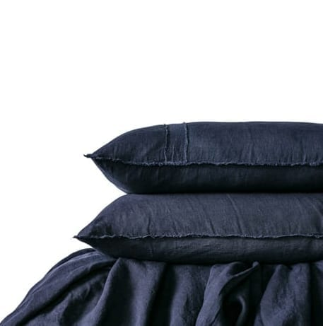Satara Linen Duvet Set Navy Queen