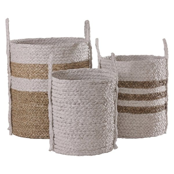 Satara Merricks Baskets White