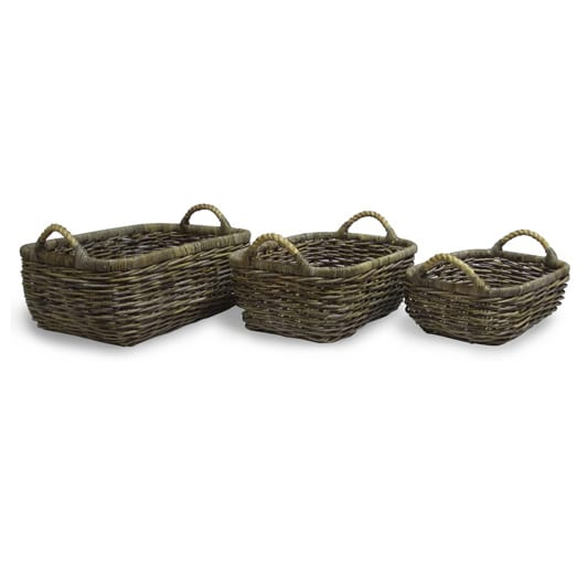Satara Set of 3 Rectangular Storage Baskets
