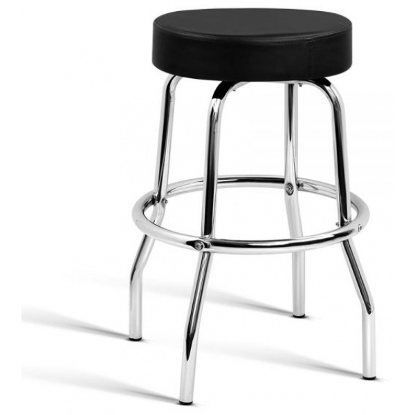 Leather Guitar Bar Stool - Black