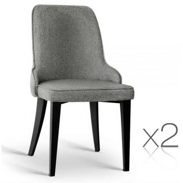 Linen Fabric Dining Chair Grey 2