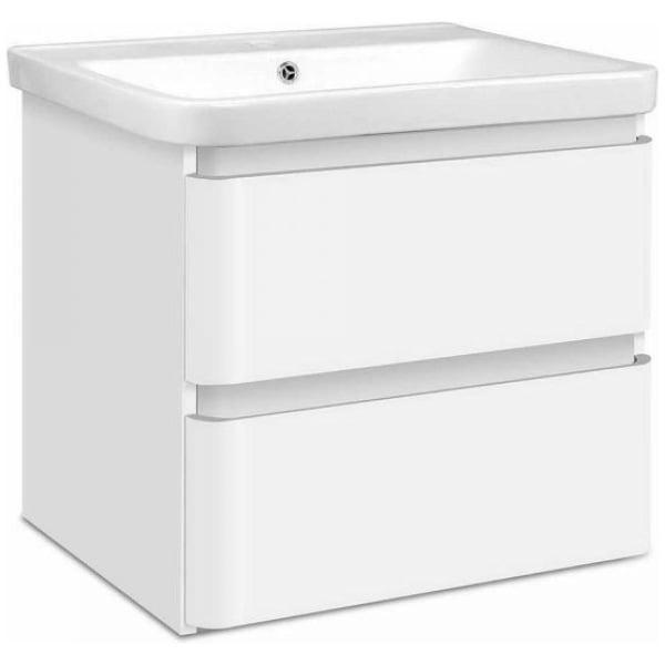 Cefito Ceramic Basin with Cabinet - White