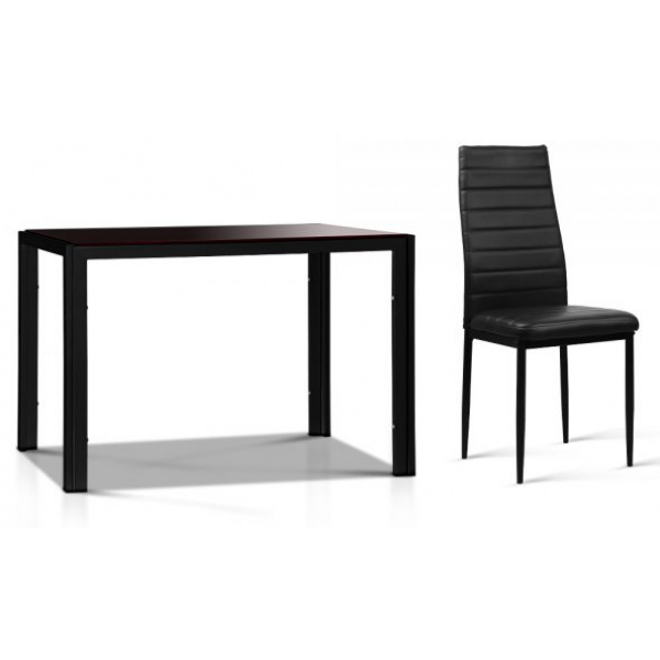 5 Piece Dining Table and Chairs Sets Black