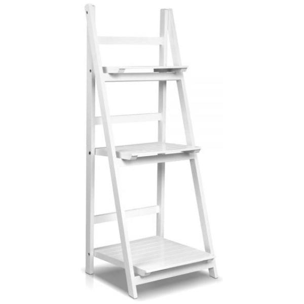 Artiss Wooden Ladder Storage Display Shelf - White