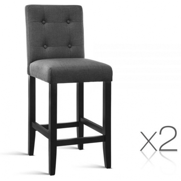 Lauren French Provincial Bar Stools Charcoal 2 Set