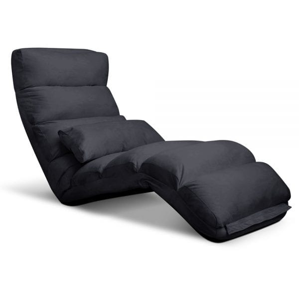 Artiss Adjustable Lounge Sofa Chair - Charcoal