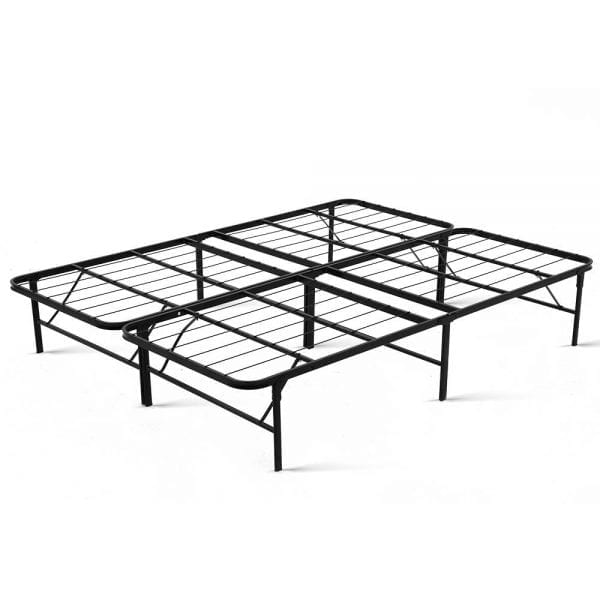 Folding Bed Frame Queen - Black