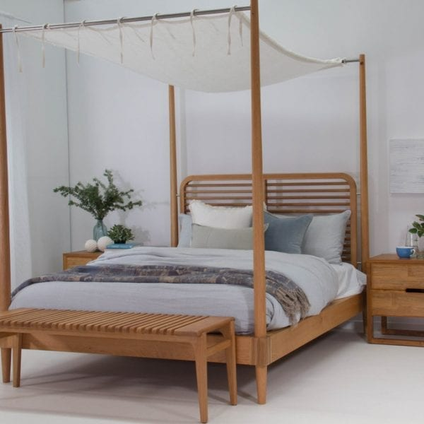 Satara Nordic Canopy Bed Queen