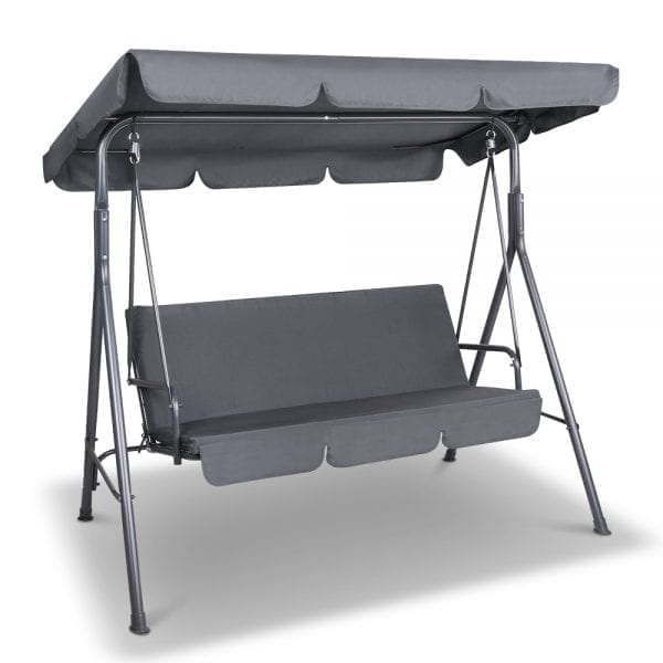 Noah Swing Chair with Canopy Grey