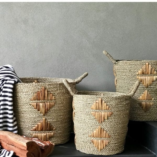 Satara Motif Baskets Natural