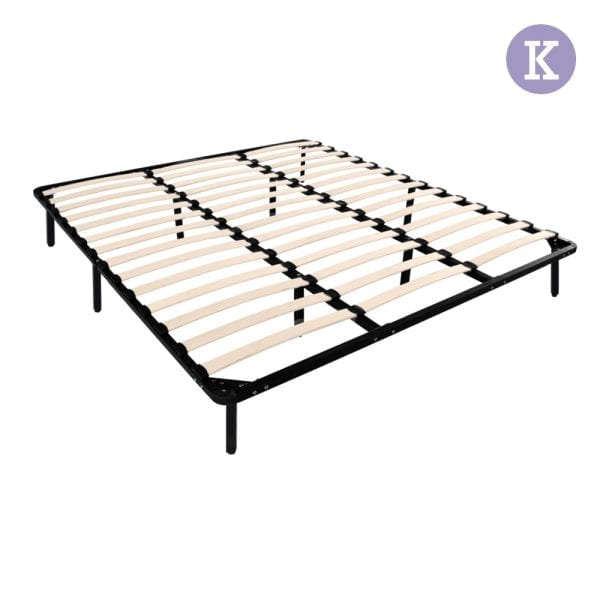 Metal Bed Base Frame - Black