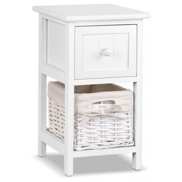 Joanne Bedside Tables White| 2 Set