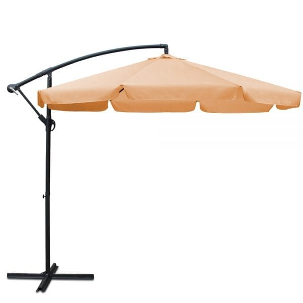 Instahut 3M Outdoor Umbrella - Beige