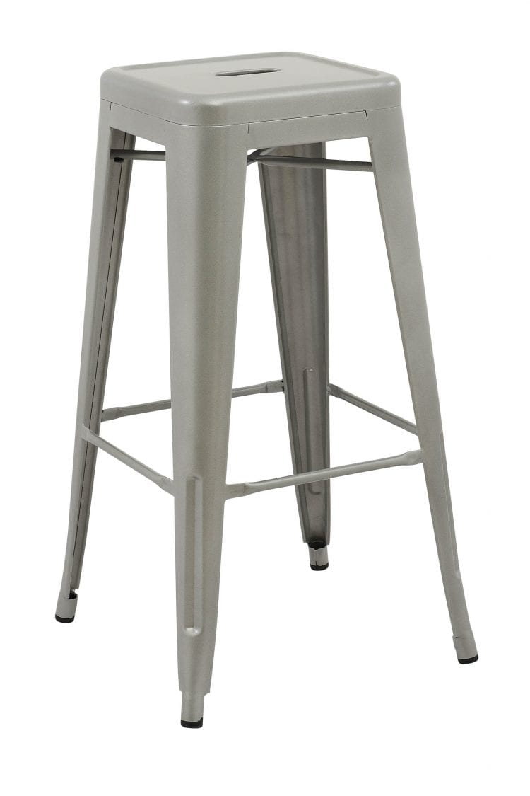 Tolix Retro Reproduction Cafe Bar Stools - Silver 4