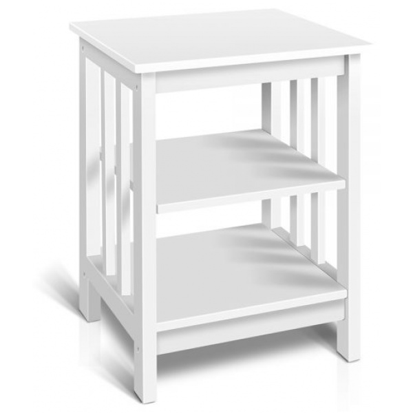 Artiss Timber Console Side Table - White