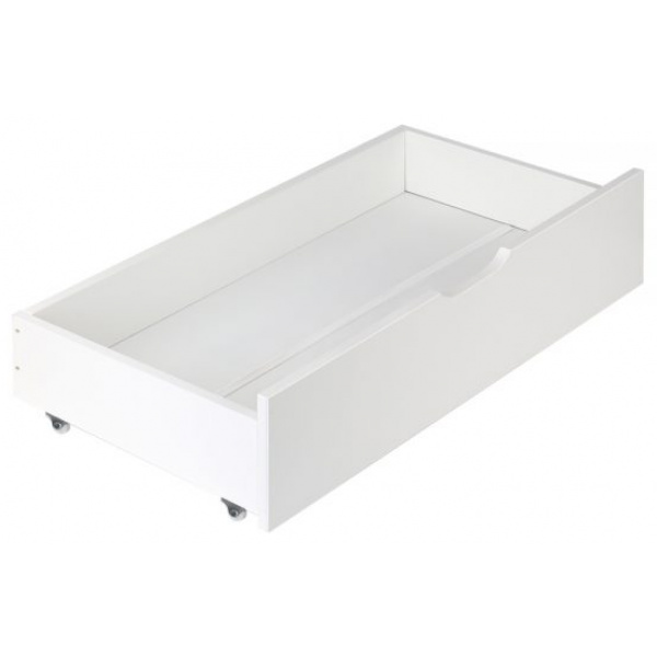 Artiss Set of 2 Single Size Wooden Trundle Drawers - White