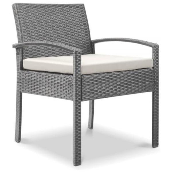 Outdoor Furniture Bistro Wicker Chair Grey