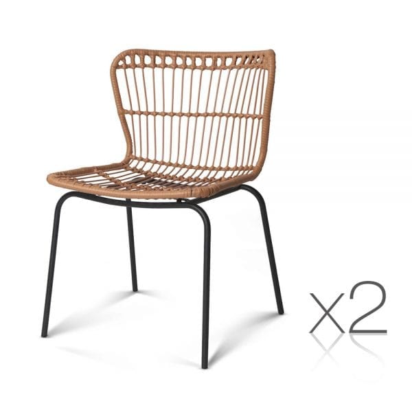 Diana Wicker Dining Chair Natural 2
