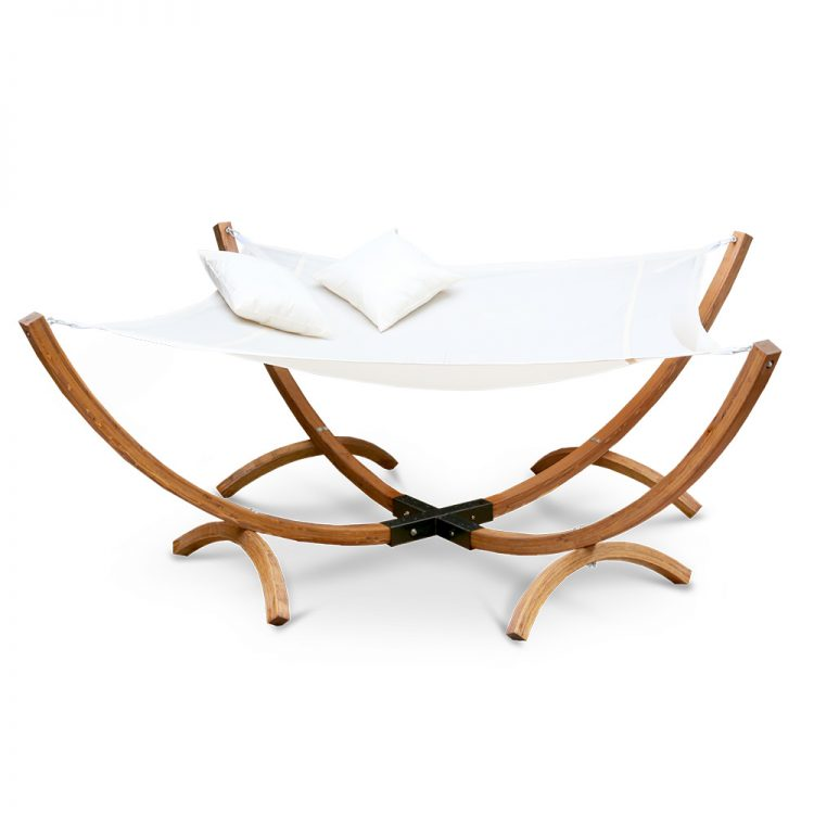 Double Timber Hammock Bed Square