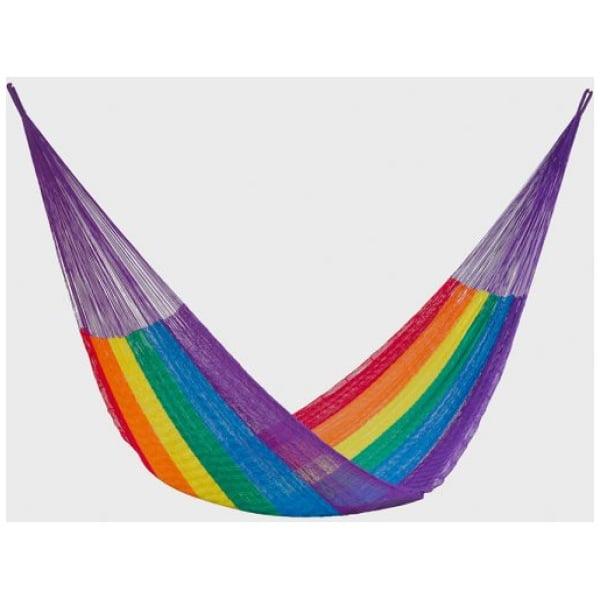 Jumbo Nylon Plus Hammock in Rainbow