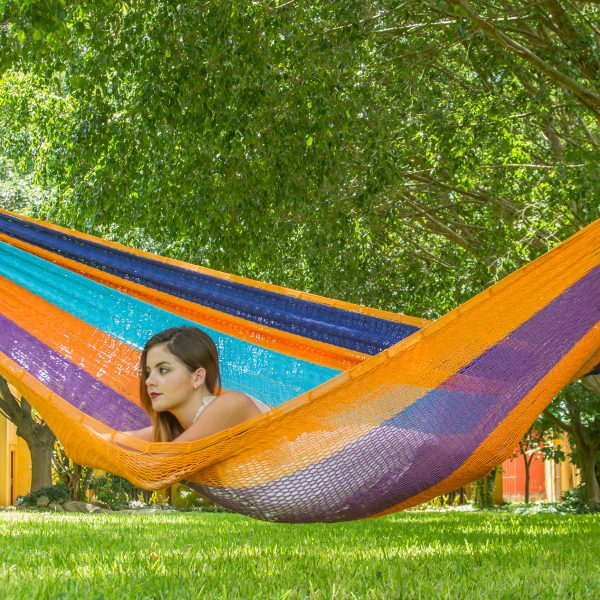 Queen Size Outdoor Cotton Hammock in Alegra