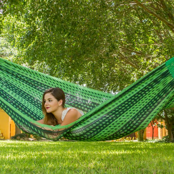 Jumbo Size Outdoor Cotton Hammock in Jardin