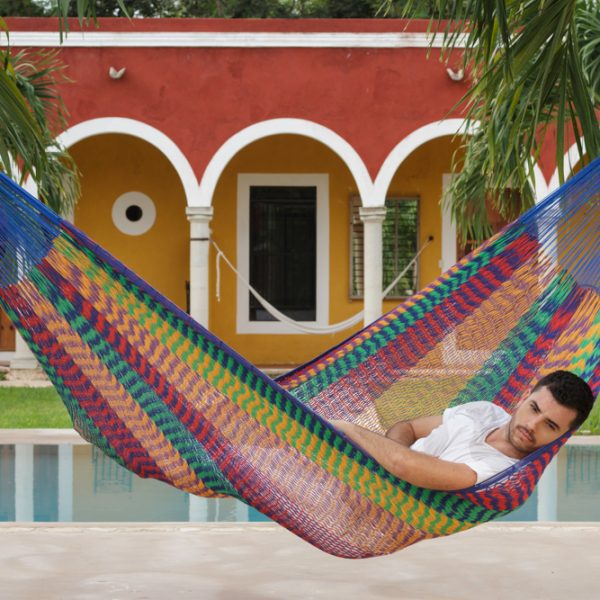 Jumbo Size Outoor Cotton Hammock in Mexicana