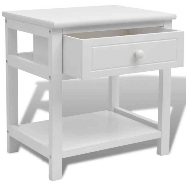 Christina Bedside Table White