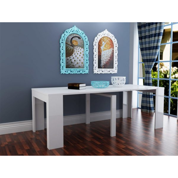 Kelly Extendable Dining Table White