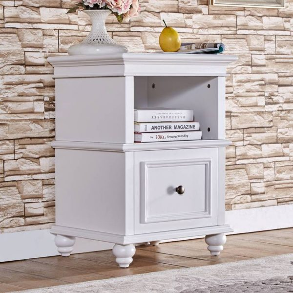 Louise Bedside Table White
