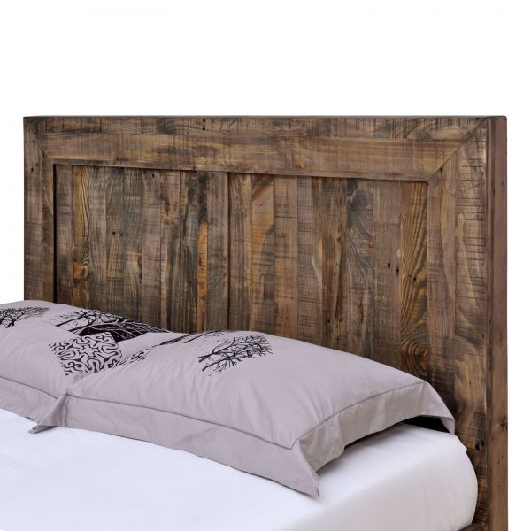 Boston Recycled Solid Pine Rustic Timber Double Size Bed Frame