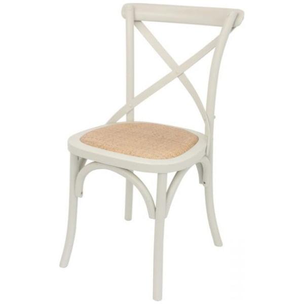 Crossback Dining Chair Cream