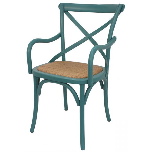 Crossback Carver Dining Chair Teal