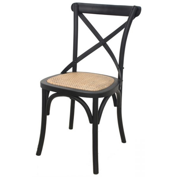 Crossback Dining Chair Black
