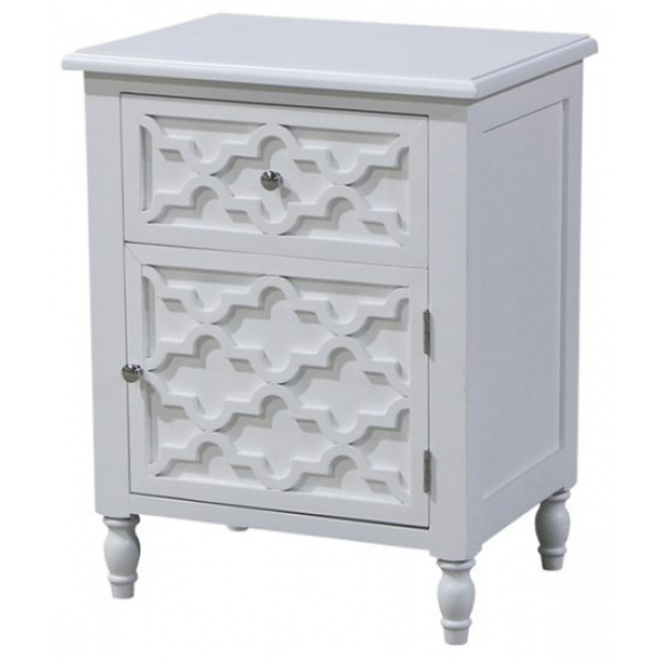 Daintree Bedside or Side Table White