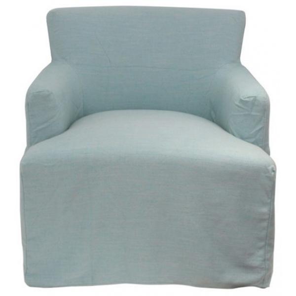 Slip Cover Nantucket for Armchair Duck Egg Blue