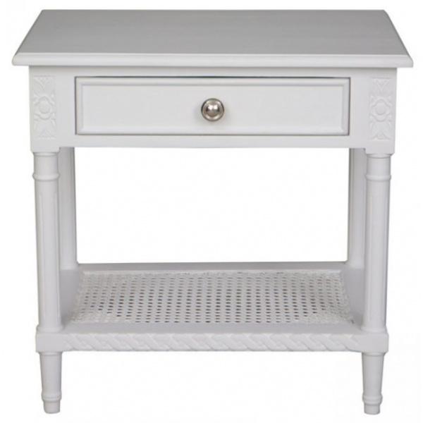 Polo Bedside Table White