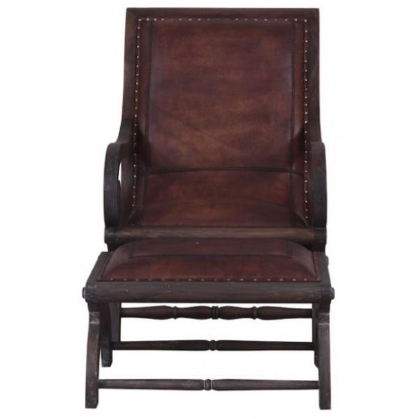 Mahogany Lazy Chair and Foot Stool