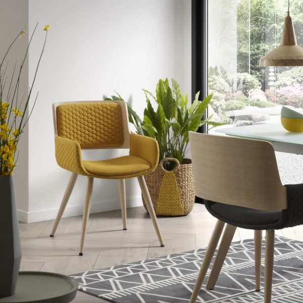 Andrea Dining Chair Yellow Set 4