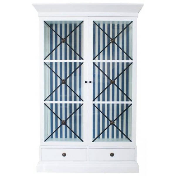 Pims and Polo Display Case Blue & White Striped